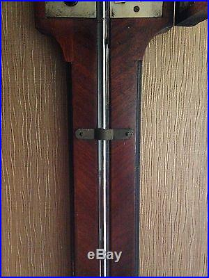 1810 Antique Smith London Stick Barometer in Mahogany Wood Case