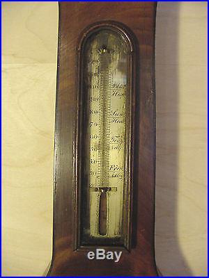 1839 Banjo Wheel Mercury Barometer J Howard Liverpool Mahogany Project part