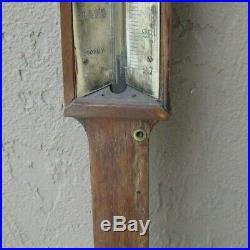 1870-80 Mahogany Cased Marine Stick Barometer G. H. & C. Gowland Sunderland