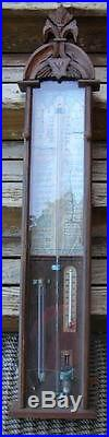 1870's Beautiful Hand Carved Admiral Fitzroy Barometer