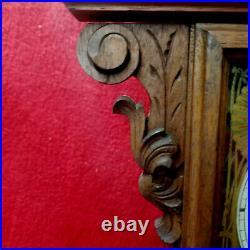1880-85 E. N. Welch Carved Walnut Parlor Clock-8 Day Striking & Glass Pendulum