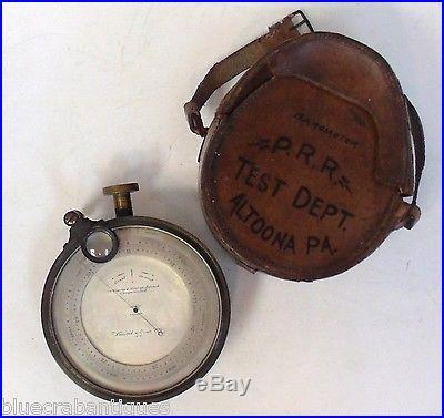 1892 Pennsylvania Railroad Keuffel & Esser Co Barometer / Altimeter in Case