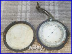 1900's Barometer Portable with fitted leather bound Wooden case