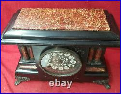 1904 American Signed Sessions 6 Column Mantle Clock