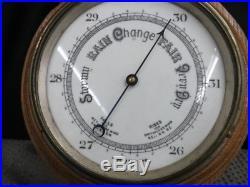 1925 Barometer England Retirement Gift G. W. Whitaker Murrays Road School Douglas