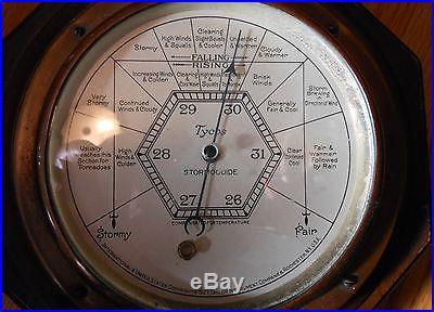1927 RARE ANTIQUE TAYLOR INSTRUMENTS COMPANIES BAROMETER