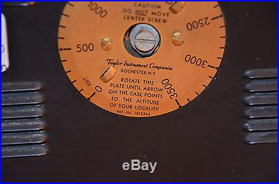 1927 TAYLOR INSTRUMENTS DECO WEATHER STATION BAROMETER TEMP HUMIDITY