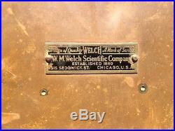 1943 U. S. Bu Ships WW II Stick Barometer W. M. Welch In Brass Case RARE Naut