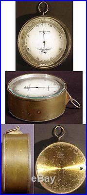 19TH CENTURY (1800s) T. A. REYNOLDS COMPENSATED ANEROID BAROMETER, LONDON, WORKS