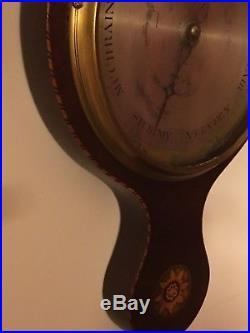19th Century Early 1800's B Tagliabue Gagia & Co Preston Barometer-Inlaid