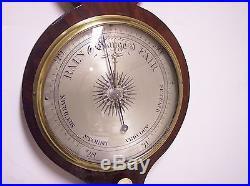 19th Century Jones & Co. London, England Wheel Barometer (Weather Station)