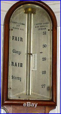19th Century Scientific Stick Barometer Negretti & Zambra (c1850)