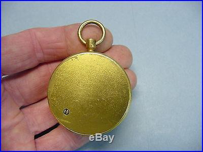 19th Century Small Pocket Altimeter Barometer Liverpool London Chadburn