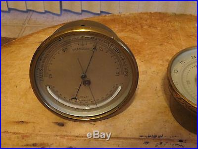 2-Antique Barometers- Tycos/Selsi- Signed on back 1943