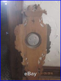 43 Tall Antique Barometer Weather Station