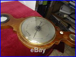 43 in Giant Banjo Wheel Barometer 19C Antique Wood. FOR REPAIR