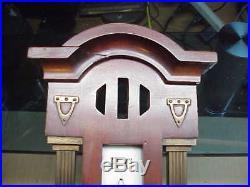 #561 Antique Period Mission Wall Barometer Carved Wood Veranderlich Germany Arts