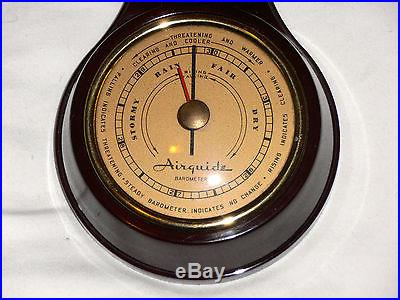 AIRGUIDE ART DECO BAROMETER/THERMOMETER