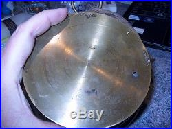 ANEROID BAROMETER SOLID BRASS ANTIQUE MARKED L & G WithANCHOR MARK BROKEN GLASS