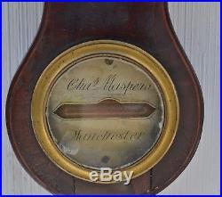 ANTIQUE 19th CENTURY BAROMETER C. Maspero, Manchester
