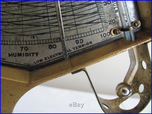 ANTIQUE ANDREW LLOYD TYCOS HYGRODEIK BAROMETER THERMOMETER MEASURES HUMIDITY