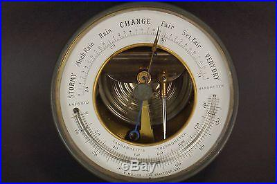 ANTIQUE ANEROID BAROMETER C. MÜLLER EARLY SAN FRANCISCO OPTICIAN