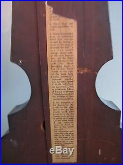 ANTIQUE BAROMETER A. D. Buchanan Boston c1835-1841 Inlaid MOP Ebonized Case