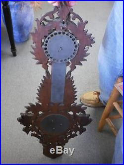 ANTIQUE BLACK FOREST HAND CARVED HYGROMETER NOW REDUCED PRICE