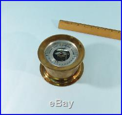 Antique Brass Barometer By Chelsea Clock Corare