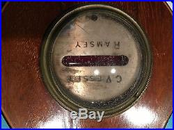 Antique English Mahogany Weather Station Barometer