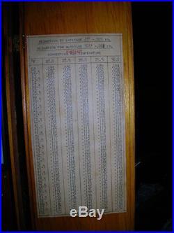 ANTIQUE HENRY J. GREEN OBSERVATORY STICK BAROMETER New York RARE