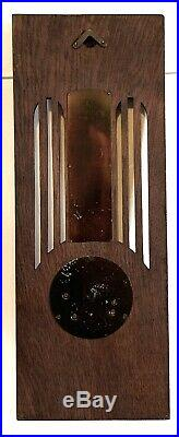ANTIQUE JUGENDSTIL ART NOUVEAU-BLACK FOREST BAROMETER-THERMOMETER-MO. Co
