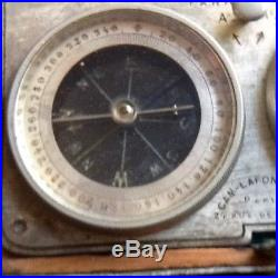 ANTIQUE POCKET COMBINATION BAROMETER COMPASS THERMOMETER by CAM-LAFONTAINE