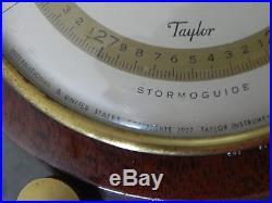 ANTIQUE TAYLOR INSTRUMENTS COMPANY BAROMETER 1927 ALTITUDE ADJUSTMENT NR