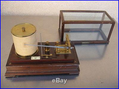 ANTIQUE TYCOS STORMOGRAPH SHORT & MASON IN WOOD & GLASS CASE VINTAGE
