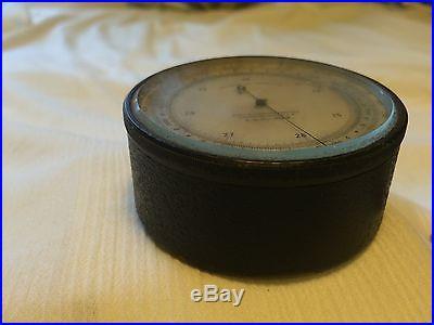 ANTIQUE Taylor Pocket Barometer/Altimeter CASE ED 4128 1000'-6000' or 200-1800 M