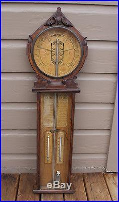 ANTIQUE Vintage Joseph Davis Co. Admiral Fitzroy Royal Polytechnic Barometer