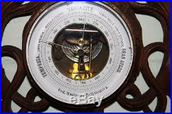 A Carved Black Forest Barometer / Thermometer (Antique)