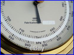 All Brass Precision Marinebaro Sundo Nr. 61 Ships Boat Marine Aneroid Barometer