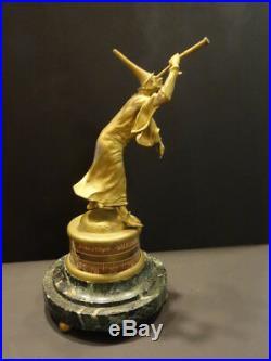 All Original NOSTRADAMUS Aneroide Barometer Bronze A. LOIR Marble Base 1880