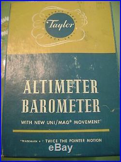 Altimeter Barometer by Taylor Instrument #6203C NIB, Circa 1963