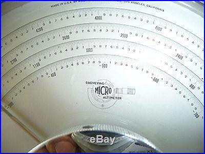 American Paulin Micro Altimeter Barometer M-1 Vintage Survey equipment