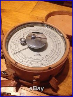 American Paulin System Micro Altimeter M1 Surveying Instrument W Leather Case