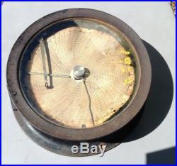 AnTiQuE 1912 FOXBORO CO NAVAL CAST IRON BAROMETER / RECORDER