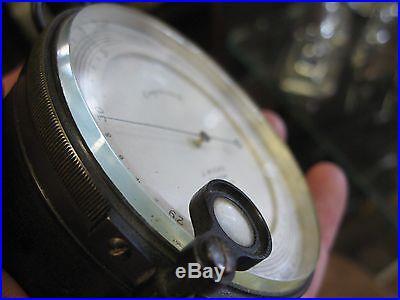 Ant Brass Pocket Aneroid Beveled Glass Barometer Altimeter J. Hicks London 6268
