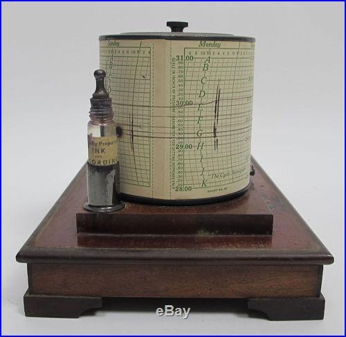 Ant. C 1920 Taylor Instrument Co Cyclo-Stormograph-Barograph Barometer Tycos yqz