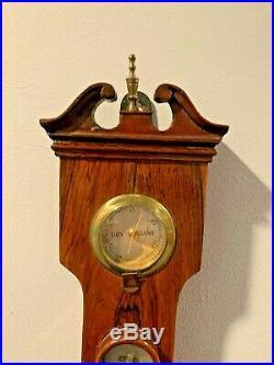 Antique 1860's A. Rivolta England George III Period Mahogany Wheel Barometer