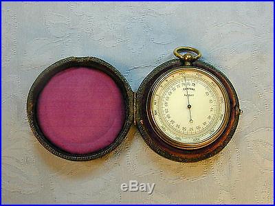 Antique 1880 French Pocket Barometer