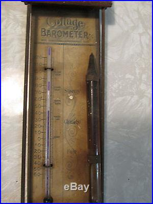 Antique 1890s ERICKSON Hardware Farm Implements John Deere BAROMETER THERMOMETER