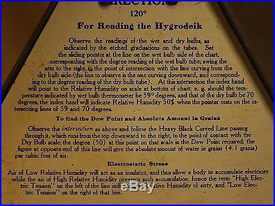 Antique 1902 Tycos Lloyd's Hygrodeik Relative Humidity Scientific Instrument